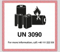 Etykieta UN 3090 - Lithium Batteries - Metal (nr. tel.)